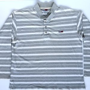 Tommy Hilfiger Jeans Long Sleeve Striped Collar XL